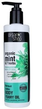 Organic Shop Pieniący się olejek pod prysznic Miętowe zioła - Body Foam Oil Organic Mint and 7 Herbs Pieniący się olejek pod prysznic Miętowe zioła - Body Foam Oil Organic Mint and 7 Herbs