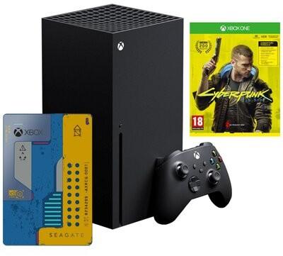 Microsoft Xbox Series X 1TB Czarny + Cyberpunk 2077 + Dysk Seagate 2TB