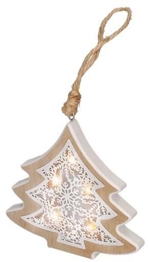 Solight LED Świąteczna dekoracja 6xLED/2xAAA drzewko