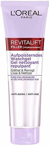 L'Oréal Paris Podkładający się żel do mycia z kwasem hialuronowym, żel do mycia przeciw starzeniu się, oczyszczanie twarzy z czystym kwasem hialuronowym, filtr Revitalift, 150 ml