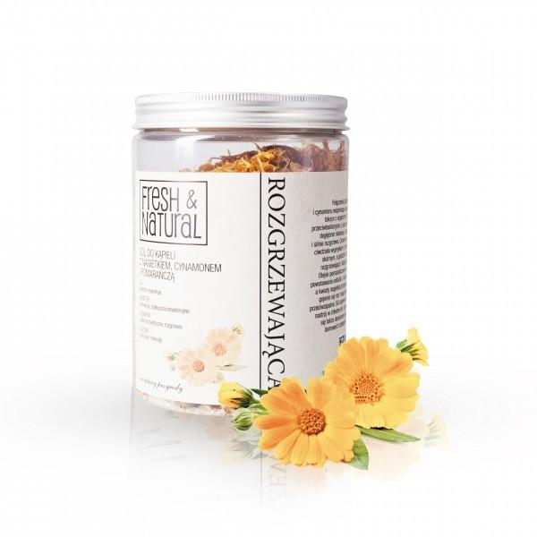 Fresh&Natural ROZGRZEWAJĄCA sól do kąpieli z nagietkiem, cynamonem i pomarańczą 1000g SOROZG1000