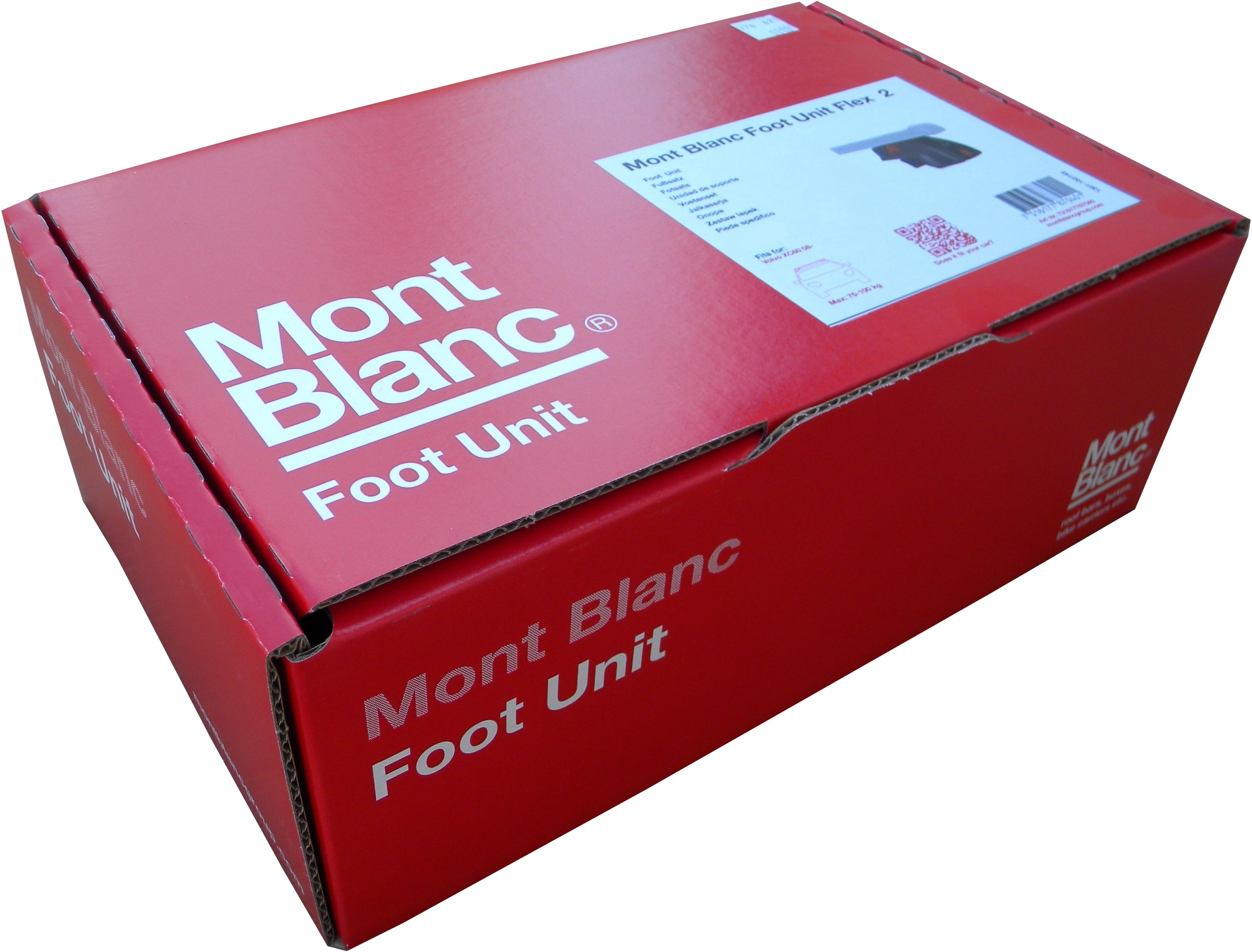 Mont Blanc Stopy do bagażnika dachowego na zintegrowany reling 3723 1682