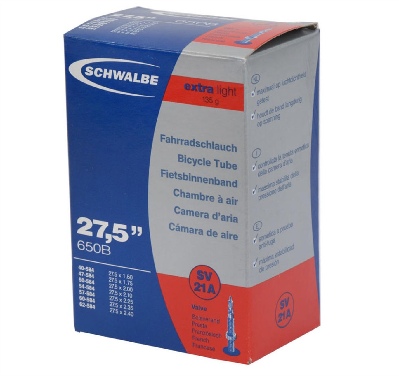 Accent SCHWALBE Extra Light 27,5 cali / Rozmiar koła: 27,5