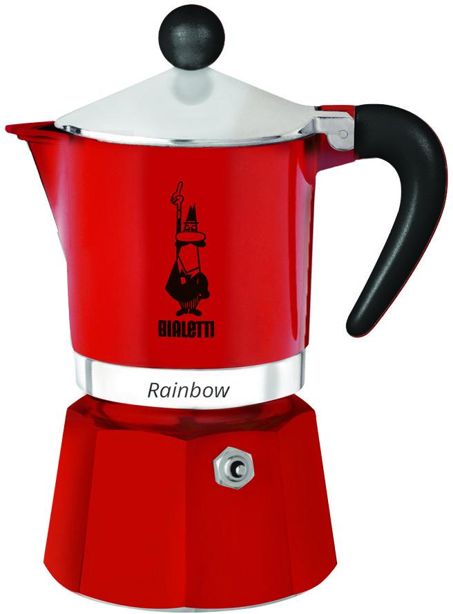 Bialetti Kawiarka Rainbow 1 TZ Czerwony