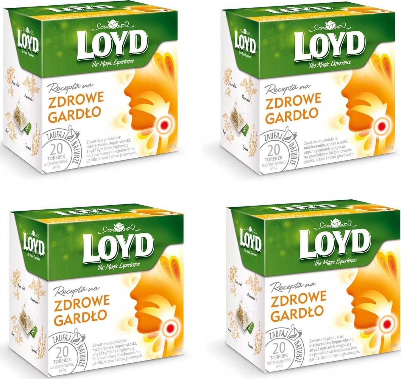 Loyd Herbata Zdrowe gardło 80 torebek piramidki 3102980