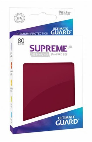 Ultimate Guard Guard Supreme UX Sleeves Standard Size Burgundy (80)