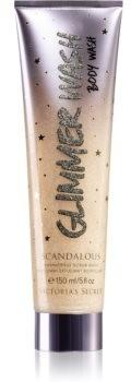 Victoria's Secret Scandalous Glimmer złuszczający żel pod prysznic z brokatem dla kobiet 150 ml