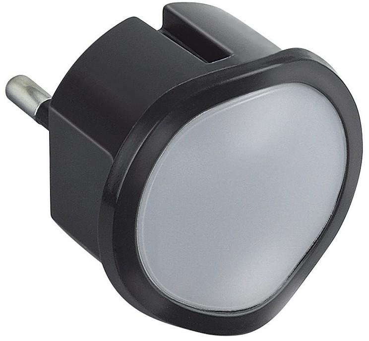 Legrand 50679 - LED Oświetlenie awaryjne ciemnialne do gniazda LED/0,06W/230V czarny