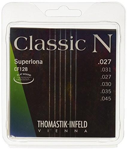 Thomastik Struny do gitary klasycznej zestaw z serii N Superlona Light CF128 płaski brzeg 656667