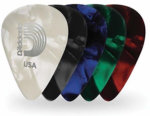 Planet Waves Różne średnie perły celuloidowe kostki gitarowe (25 sztuk) 1CAP4-25