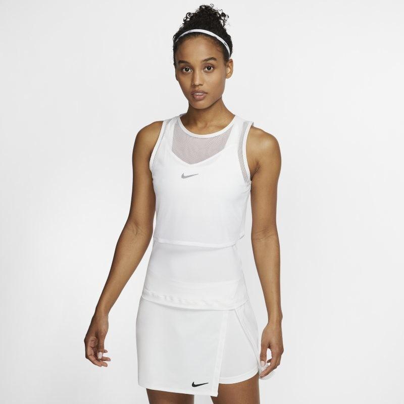 Nike Damska koszulka bez rękawów do tenisa NikeCourt Dri-FIT - Biel CI9320-100