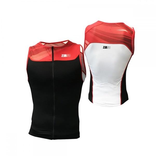 ZEROD koszulka triathlonowa START TRISINGLET czarno- czerwone