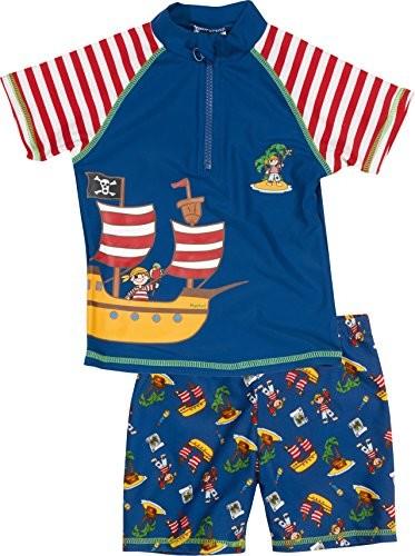 Playshoes młodych ochronę przed promieniowaniem UV-zestaw Pirateninsel do kąpieli, składający się z koszulka kąpielowa i spodenki kąpielowe - B00OTHYIHQ