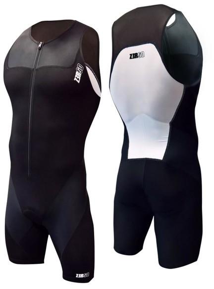 ZEROD strój triathlonowy START FRONT ZIP czarny