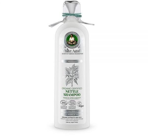 AM-DISTRIBUTION Szampon do włosów White Agafia z pokrzywy - miękkość i blask 280 ml