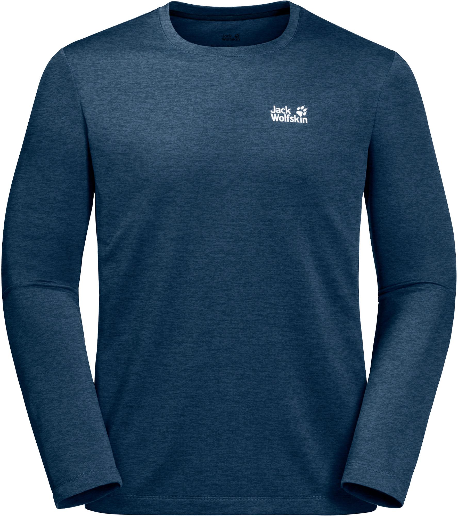 Jack Wolfskin Koszulka HYDROPORE XT LONGSLEEVE MEN poseidon blue