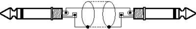 IMG Stage Line MCC-100/SW kabel instrument (6,3MM wtyczka jack,/) 1m Czarny O60410