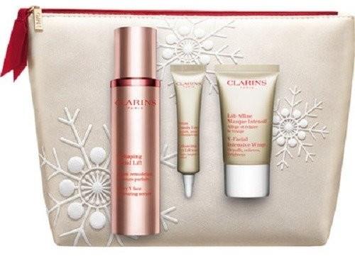 Clarins V Shaping Facial Lift Serum do twarzy 50ml+Eye Lift Serum 7ml+V-Facial Intensive Wrap 15ml/Zestaw/
