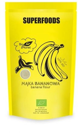 Bio Planet seria SUPERFOODS MĄKA BANANOWA BIO 200 g - BP-5902488066057