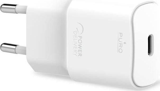 PURO Ładowarka White Mini Fast Travel Charger Ładowarka sieciowa USB-C Power Delivery 20W biały PUR415WHT