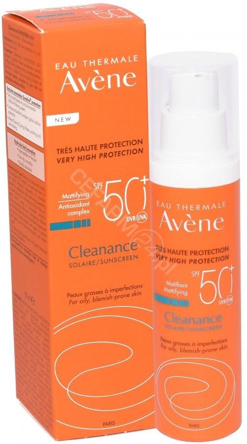Avene 123ratio CLEANANCE Emulsja z wysoką ochroną przeciwsłoneczną skóra tłusta i trądzikowa SPF50 50 ml 7072787