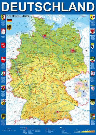 Schmidt Spiele Spiele, puzzle Mapa Niemiec