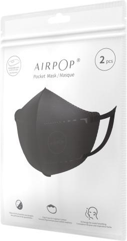 Maska antysmogowa AirPop Pocket 2szt. czarna