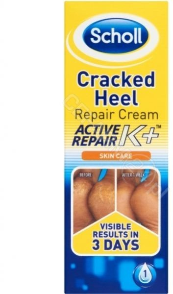 Scholl Reckitt Benckiser Active Repair K+ Krem na pękające pięty 60 ml