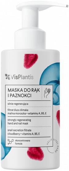 Vis Plantis silnie regenerująca maska do rąk i paznokci filtrat śluzu ślimaka malina moroszka witaminy A B5 E 135ml