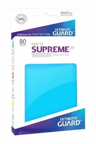 Ultimate Guard Guard Supreme UX Sleeves Standard Size Matte Light Blue (80)