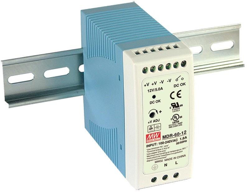 Mean Well Zasilacz LED MDR 60W 24V/DC MDR-60-24