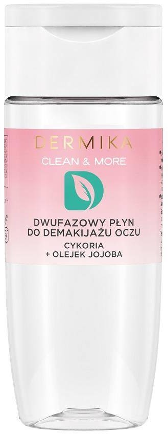 Dermika Clean & More dwufazowy płyn do demakijażu oczu Cykoria & Olejek Jajoba 125ml