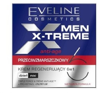 Eveline Cosmetics Men X-Treme Anti-Age 6w1 przeciwzmarszczkowy krem regenerujący 6w1 dzień/noc 50ml