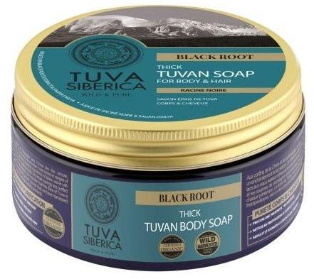 Natura Siberica Tuva Siberica BLACK ROOT Gęste odżywcze mydło do ciała i włosów 300ml