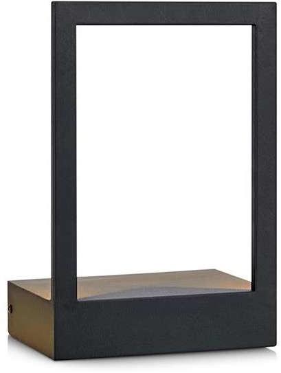 Markslojd Kinkiet LAMPA ścienna PABLO 107177 metalowa OPRAWA ramka LED 7W półka czarna 107177