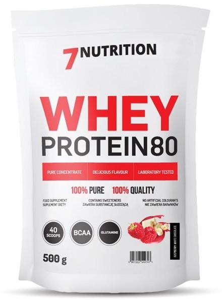 7Nutrition Odżywka białkowa, Whey Protein 80, wanilia, 500 g