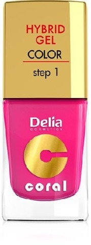 Delia Cosmetics Cosmetics, Coral Hybrid Gel, lakier do paznokci nr 03 róż, 11 ml