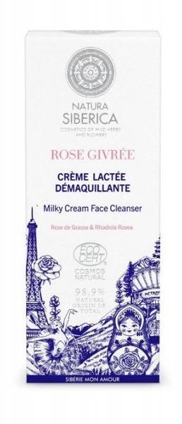 Natura Siberica ROSE GIVREE Zamrożona Róża Kremowe mleczko oczyszczające do twarzy 200ml