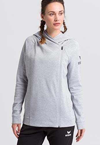 Erima Essential damska bluza z kapturem, szary, 36