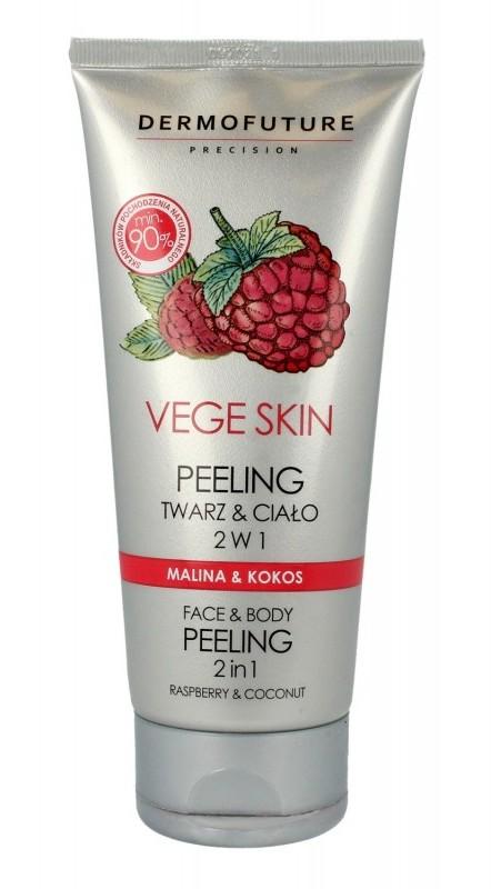 TENEX Dermofuture Precision Vege Skin Peeling do twarzy i ciała 2w1 Malina&Kokos 200ml SO_109178