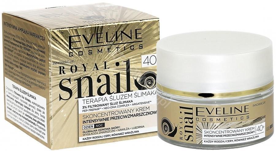 Eveline Royal Snail 40+ Intensywnie przeciwzmarszczkowy skoncentrowany krem do twarzy na dzień i noc 50 ml