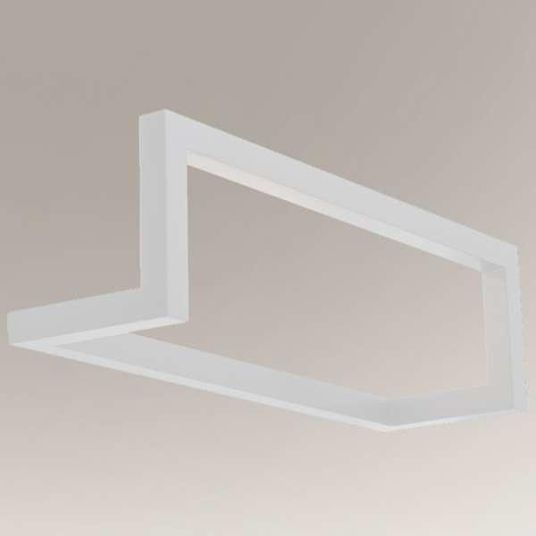 Shilo Designerska LAMPA ścienna ZAOSU 7904 metalowa OPRAWA prostokątna rama kinkiet industrialny czarny 7904