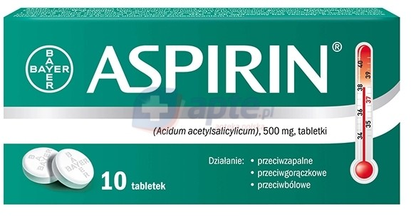 Bayer Aspirin 500mg x10 tabletek