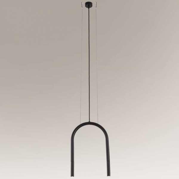 Shilo Industrialna LAMPA wisząca SUMOKO 7860 metalowa OPRAWA loftowy zwis czarny 7860