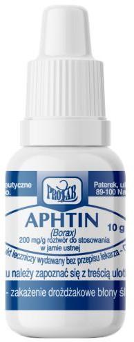 Prolab Aphtin 200mg/g roztwór do stosowania w jamie ustnej 10 g 3244006