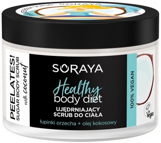 Soraya Body Diet Ujędrniający Scrub do ciała z łupinkami orzech i olejem Kokosowym 200g