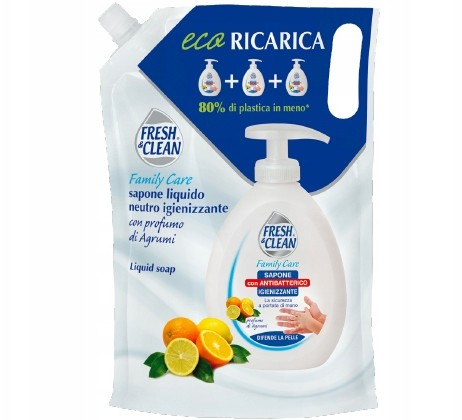 Fresh Clean Antybakteryjne mydło zapas 900ml