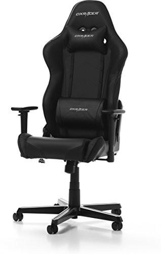 DXRacer Racing Oh/rz0/N krzesło do grania, imitacja skóry, czarna, 67x 67x 132cm GC-R0-N-Z1