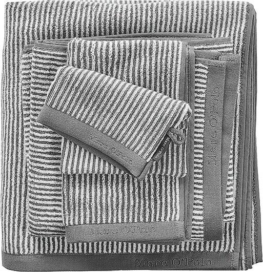 Marc O'Polo Rękawica kąpielowa Timeless Tone Stripe szaro-biała 730007-200-013