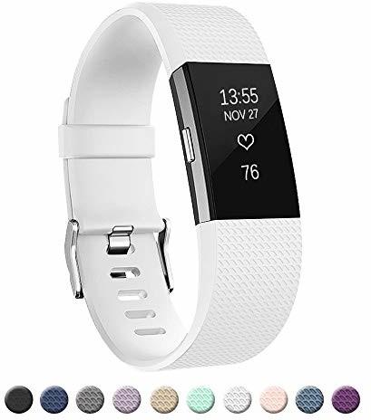 fitbit AOCGO Zapasowy pasek do zegarka na rękę Charge 2, zapasowy pasek do miękkich akcesoriów, zacisk metalowy zabezpieczający Charge 2 (6,7